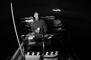 Chris at the helm.  Thank GOD for coffee!!!