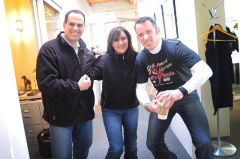 (L-R)  Mike Indresano, Michelle, Greg