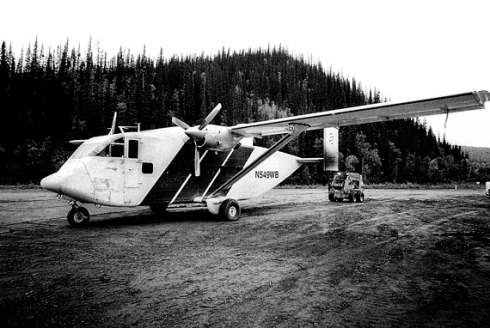 SC.7 Skyvan being loaded with mining supplies