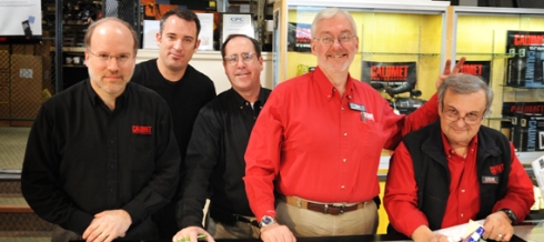 Greg and the Calumet Cambridge crew, (R-L) Jeff, Greg, Steve C, J-Man, Steve F
