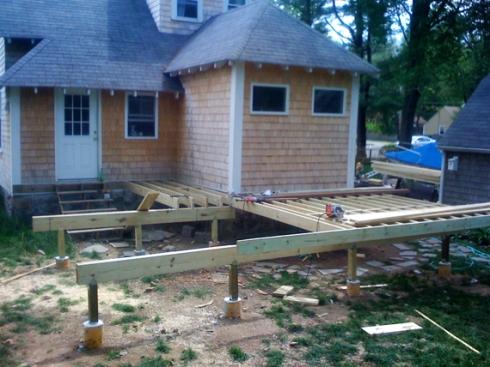 Building a deck...
