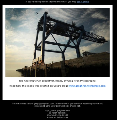 "March eMail Promo, ""Anatomy of an Industrial Image"""